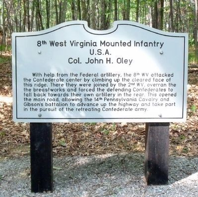8th West Virginia Mounted Infantry Marker image. Click for full size.