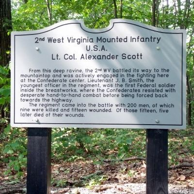 2nd West Virginia Mounted Infantry Marker image. Click for full size.
