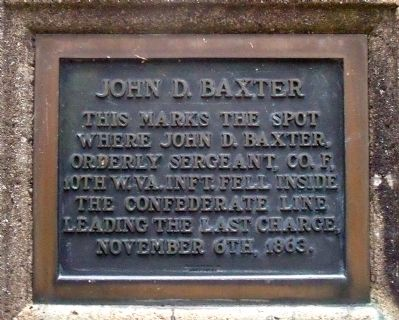 John D. Baxter Monument image. Click for full size.
