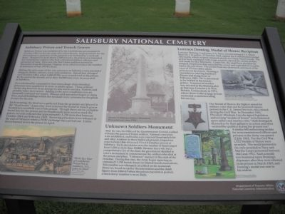 Salisbury National Cemetery Marker image. Click for full size.