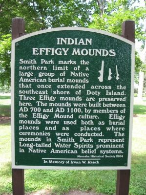 Indian Effigy Mounds Marker image. Click for full size.