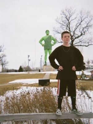 Blue Earth's Jolly Green Giant image. Click for full size.