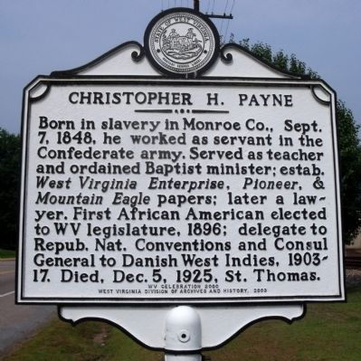 Christopher H. Payne Marker image. Click for full size.
