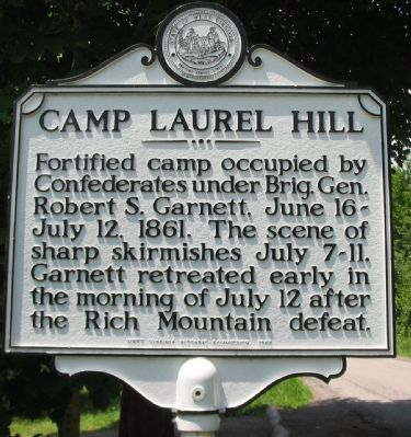 Camp Laurel Hill Marker image. Click for full size.