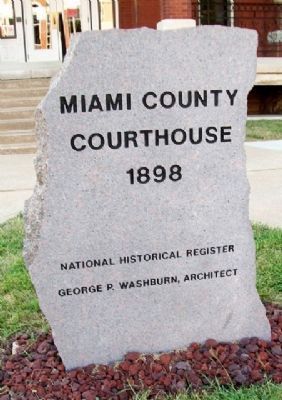 Miami County Courthouse Marker image. Click for full size.