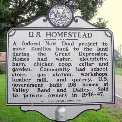 U.S. Homestead Marker image. Click for full size.