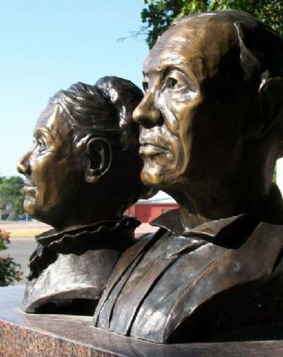 Busts of Baptiste & Mary Ann Peoria image. Click for full size.