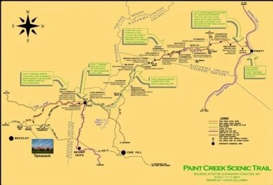 Paint Creek Scenic Trail Map image. Click for full size.