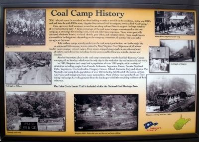 Coal Camp History Marker image. Click for full size.