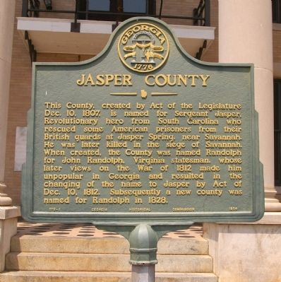 Jasper County Marker image. Click for full size.