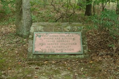 An Older Slave Cemetery Marker image. Click for full size.