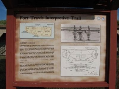Fort Travis Interpretive Trail Sign image. Click for full size.