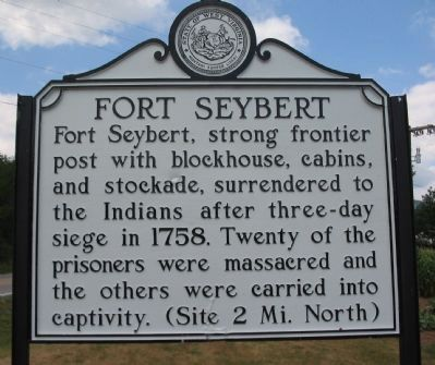 Fort Seybert Marker image. Click for full size.