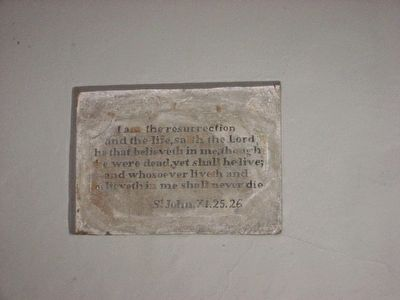 Inscription on the back wall of Washington's Tomb image. Click for full size.