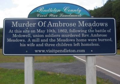 Murder of Ambrose Meadows Marker image. Click for full size.