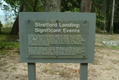 Stratford Landing: Significant Events Marker image. Click for full size.
