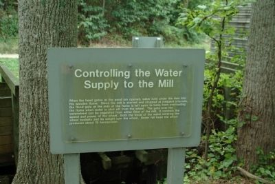 Controlling the Water Supply to the Mill Marker image. Click for full size.