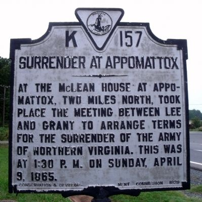 Surrender at Appomattox Marker image. Click for full size.
