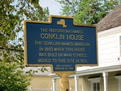 Conklin House Marker -- north-facing side image. Click for full size.