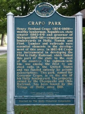 Crapo Park Marker image. Click for full size.