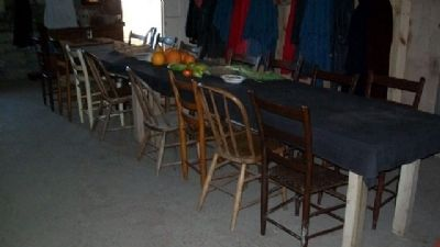 Traveler Dining Area in Mahaffie House Basement image. Click for full size.
