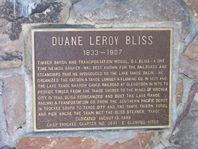Duane Leroy Bliss Marker image. Click for full size.