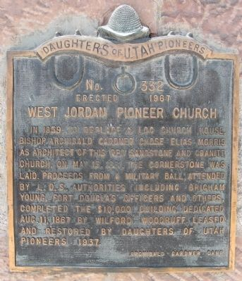 West Jordan Pioneer Church Marker image. Click for full size.
