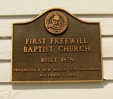 City of New Berlin Historic Landmark Plaque image. Click for full size.