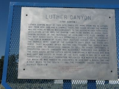 Luther Canyon Marker image. Click for full size.