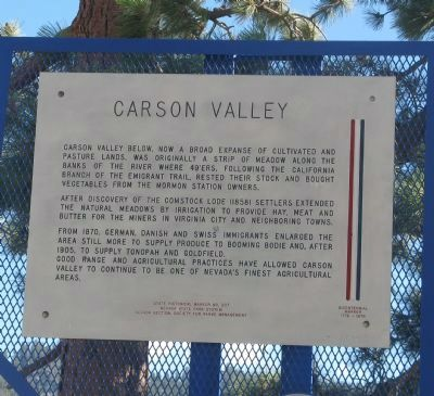 Carson Valley Marker image. Click for full size.