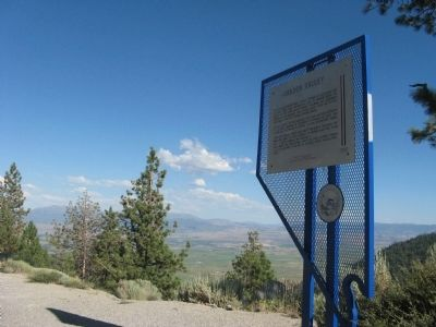Carson Valley Marker With Carson Valley in the Background image. Click for full size.
