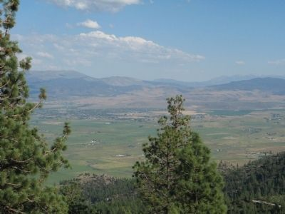 Carson Valley Viewed From the Marker image. Click for full size.