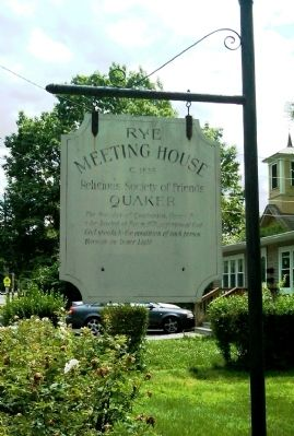 Rye Meeting House Marker image. Click for full size.