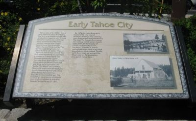 Early Tahoe City Marker image. Click for full size.