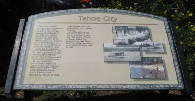 Tahoe City Marker image. Click for full size.