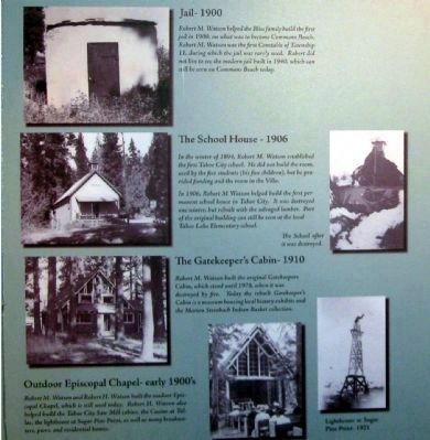 Photo Display at the Watson Cabin Museum image. Click for full size.