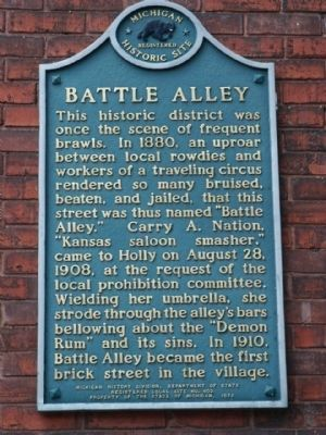 Battle Alley Marker image. Click for full size.