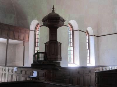 Triple Decker Pulpit in Christ Church image. Click for full size.