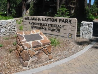William B. Layton Park Marker and Park Entrance Sign image. Click for full size.