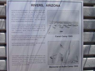 Rivers, Arizona Marker image. Click for full size.