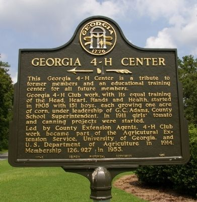 Georgia 4-H Center Marker image. Click for full size.