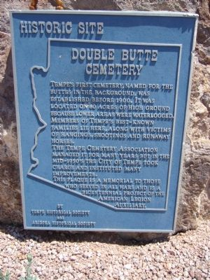 Double Butte Cemetery Marker image. Click for full size.