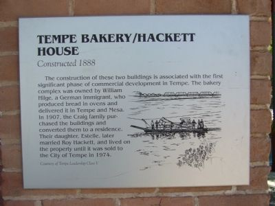 Tempe Bakery/Hackett House Marker image. Click for full size.