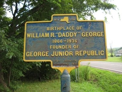 "Birthplace of William R. ""Daddy"" George Marker image. Click for full size."