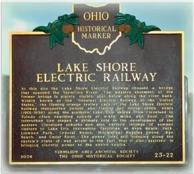 Lake Shore Electric Railway Marker image. Click for full size.