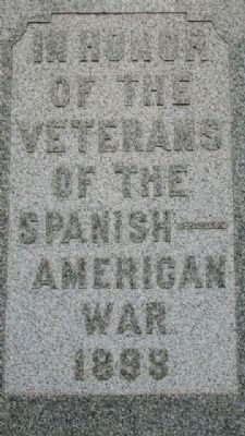 Cadmus War Memorial West Face image. Click for full size.
