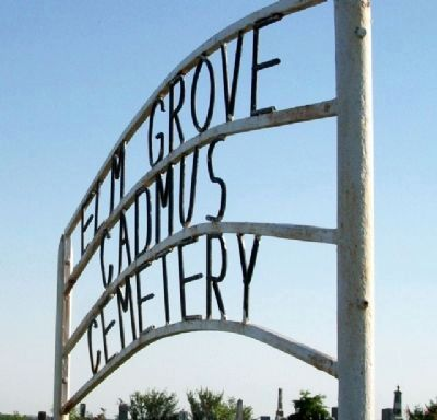 Elm Grove-Cadmus Cemetery Sign image. Click for full size.