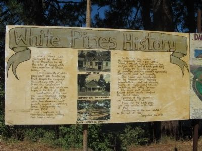 White Pines History Marker image. Click for full size.