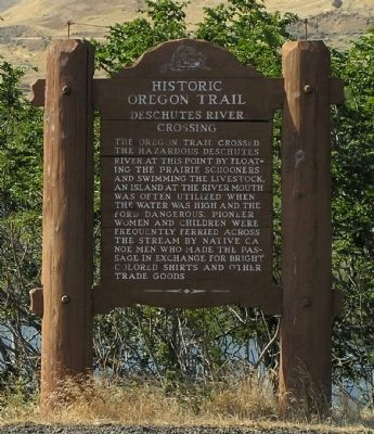 Deschutes River Crossing Marker image. Click for full size.