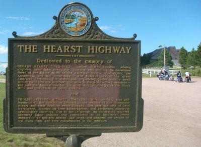The Hearst Highway Marker image. Click for full size.